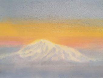 Mount Baker from Saturna Island